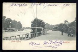 Cpa Angleterre Surbiton Parker's Ferry  AO40 - London Suburbs