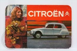 1971 Advertising Pocket Calendar: Citroën Car - Calendarios