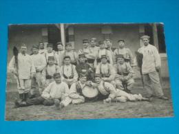 """33) Saint-medard-en -jalles """" Camp De Souges """" Carte Photo - Une Section -  Année 1909 - EDIT - - France"""