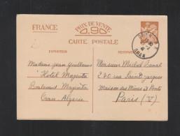 France Carte Postale 1941 Oran A Paris - Biglietto Postale