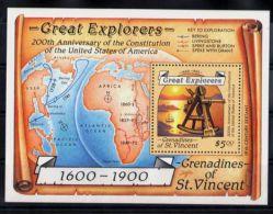 St.Vincent Grenadines - 1988 Sextant Block MNH__(TH-3365) - St.Vincent Und Die Grenadinen