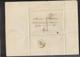 Lettre Lyon 1834 Au President De La Commision Des Hospitaux Civils - Poststempel (Briefe)