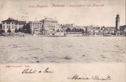 PALLANZA - IMBARCADERO CON PIROSCAFO  VG 1903 2 SCANN. AUTENTICA 100% - Verbania