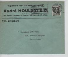 TP 480 s/L.commerciale Andr� Moulard&Cie Agence de Charbonnages Bruxelles-Midi c.M�c.BXL 1940 PR1363