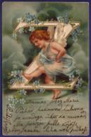 CPA fantaisie - ENGEL - ANGE - lettre Z - RELIEF 1905 alphabet ORIGINAL