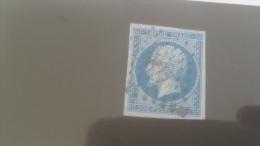 LOT 231760 TIMBRE DE FRANCE OBLITERE N�14Ae VALEUR 80 EUROS TB SANS DEFAUT