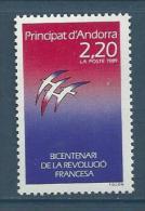 "Andorre YT 376 "" Révolution Française "" 1989 Neuf** - French Andorra"