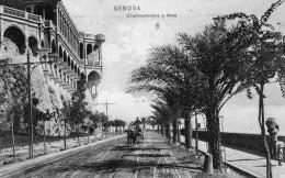 CARTOLINA D'EPOCA DI GENOVA CIRCONVALLAZIONE A MARE COM'ERA INIZIO 900 BELLA  VIAGGIATA NEL 1907 - Genova (Genoa)