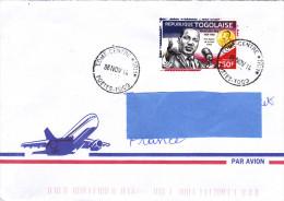 Z3] RARE: Enveloppe Cover Togo Martin Luther King Prix Nobel De La Paix 1964 Peace Nobel Prize - Martin Luther King