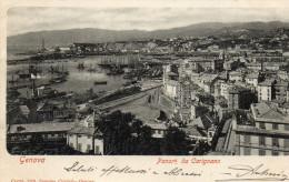 CARTOLINA D'EPOCA DI GENOVA PANORAMA DA CARIGNANO COM'ERA INIZI 900 BELLA  VIAGGIATA NEL 1902 - Genova (Genoa)