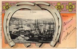 CARTOLINA D'EPOCA DI GENOVA  BEL PANORAMA PARTICOLARE E RARA!  VIAGGIATA NEL 1911 - Genova (Genoa)