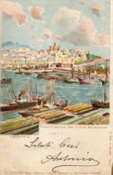 CARTOLINA D'EPOCA DI GENOVA PANORAMA DA VILLA ROSAZZA BEL LITHO  RARA!! VIAGGIATA NEL 1903 - Genova (Genoa)