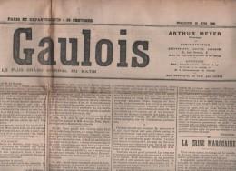 LE GAULOIS 25 06 1905 - MAROC - FAUVES JARDIN DES PLANTES - TAMBOUR ARMEE - MADAGASCAR - BESSES OF THE BARN MUSIQUE - Journaux - Quotidiens