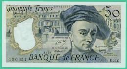 France -  50.Francs - Quentin De La Tour - N°.U.12 - 130357 - 1978 -  Neuf - 50 F 1976-1992 ''Quentin De La Tour''