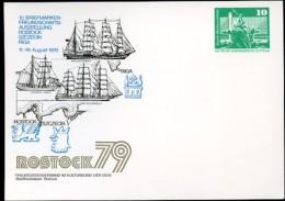 DDR PP16 D2/053 Privat-Postkarte SEGELSCHIFFE Rostock 1979 NGK 3,00 € - Postales Privados - Nuevos