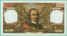 France -  100.Francs -  Corneille - N°. Z.177 / 47079 - A.1-9-1966.A - Sup - 1962-1997 ''Francs''