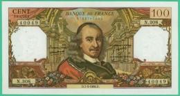 France -  100.Francs -  Corneille - N°. N.308 / 40049 - D.7-3-1968.D. - Sup - 1962-1997 ''Francs''