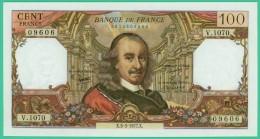 France -  100.Francs -  Corneille - N°. V.1070 / 09606 - X.3-3-1977.X. - Sup - 1962-1997 ''Francs''