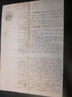 27/5/1854 Procuration Héritier Delpech Manuscrit Lettre Acte Notarié Entretien Voûte Cathédrale Fiscal à Sec Carcassone - Manuskripte