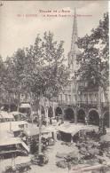 Cpa Limoux, Le Marché Place De La République - Limoux