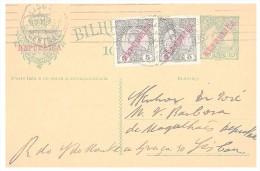 CARTE PORTUGAL. 1911. ENTIER 10 REIS. LISBOA-LISBOA /4456 - Marcophilie