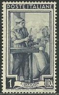 1950 - REPUBBLICA - LAVORO - 1 LIRE - FILIGRANA LETTERE 10/10++ - MNH -  SIGNED FERRARIO - LUSSO - Variétés Et Curiosités