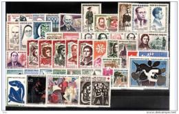 FRANCE - 1961 - Année Complète - Timbres N° 1281 à 1324 - Neufs ** - France
