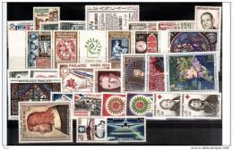 FRANCE - 1964 - Année Complète - Timbres N° 1404 à 1434 - Neufs ** - France