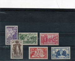 6 Valeurs (Exposition International De Paris 1937 ( La REUNION ) Neuf ***