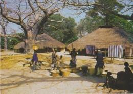 AFRIQUE,AFRIKA,AFRICA,SEN EGAL,CASAMANCE,PAILLOTTE, FEMME AU TRAVAIL,FILLE,CUISINE INDUSTRIEL - Sénégal