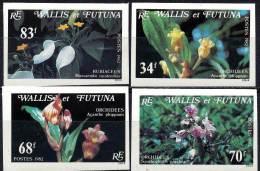 WALLIS & FUTUNA 1982 ORCHIDS FLOWERS SC#283-86 IMPERF VF MNH Cv$40.00(D0623) - Wallis And Futuna