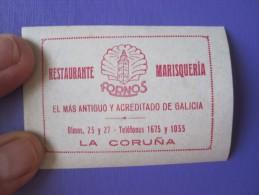 HOTEL RESIDENCIA PENSION HOSTAL FORNOS LA CORUNA SPAIN LUGGAGE LABEL ETIQUETTE AUFKLEBER DECAL STICKER MADRID - Hotel Labels