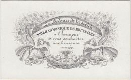 23354Mg Carte Porcelaine BEDEAU De La SOCIETE PHILHARMONIQUE De BRUXELLES - Heureuse Année - 9.4x5.7c - Visitekaartjes