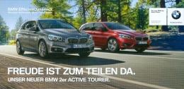 AK München BMW 2-er Activ Tourer Werbekarte - Ansichtskarten