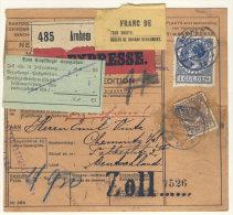 Niederlande Michel No. 168 , 190 auf Paketkarte