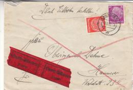 Allemagne - Empire - Lettre Exprès De 1937 - Oblitération Hannover - Deutschland