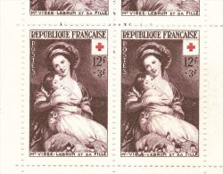 """Variété """"Robe En Feu"""" (gouttes D'eau) Sur 2 Tp Carnet Croix Rouge 1953 - Neuf ** - Abarten: Markenheftchen"""