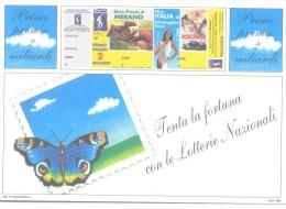 LOTTO 9 N° 5 CARTOLINE DELLA LOTTERIA MERANO MISS ITALIA SUSA MONCENISIO ANNO 1998  NUOVA PERFETTA - Billets De Loterie