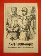 """Sw.-Propagandakarte """"SA-Wettkämpfe Berlin Olympia Stadion 1937"""" Von Deutsches Reich, Ungebraucht - Allemagne"""