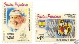 Music Festival Folklore Guitar Gaucho Smoking URUGUAY Sc#1644/5 MNH STAMP $4.50