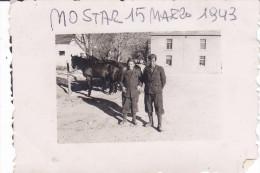 CARD PHOTO Cm.9X6,5  SOLDATI ITALIANI MOSTAR BOSNIA ERZEGOVINA 15 MARZO1943-2-    0882-  22129-130 - Guerre 1939-45