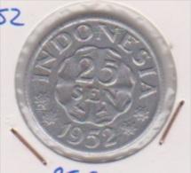 INDONESIE //  25  SEN  1952  //  TTB
