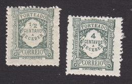 Portugal, Scott J28-J29, Mint Hinged, Postage Due, Issued 1922, 1927 - Unused Stamps