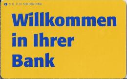 Telefonkarte.- Duitsland. S 13.11.97. 12 DM.  Willkommen In Ihrer Bank. Deutsche Postbank AG. 2 Scans - Duitsland