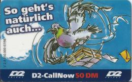 Telefonkarte.- Duitsland. D2-CallNow - 50 DM. D2 Privat - V 2.4 - 150.000.- 07/98 -  Postduif. 2 Scans - GSM, Voorafbetaald & Herlaadbare Kaarten