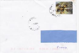 Z3] RARE: Enveloppe Cover NIGER Faune Préhistorique Prehistoric Fauna Diceratops - Timbres