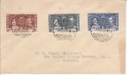 Gold Coast FDC Scott #112-#114 1937 Coronation Of George VI - Costa D'Oro (...-1957)