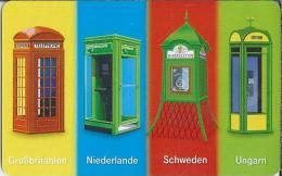 Telefonkarte.- Duitsland. Telefonzelle. 12 DM. Grossbritanien. Niederlande. Schweden. Ungarn. ODS P 17.08.99 - 500.000. - Duitsland