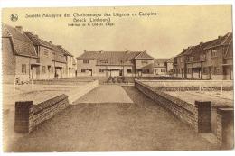 CP Genk - ZWARTBERG - S A des charbonnages des Li�geois en Campine - int�rieur de cit� de Li�ge -  RARE - TB �tat -
