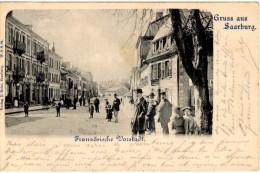Gruss Aus Saarburg - Franzöische Vorstadt - Précurseur - Cachet De Saareburg à Niederbronn - Sarrebourg
